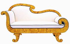 Chaise longue in highly figured birch (or possibly maple)- Biedermeier, first quarter 19th century