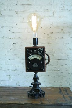 Scientific Watt Meter Lamp