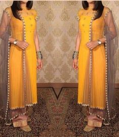 Made on order Gorgeous georgette suit with gottapatti and pearl work 😍 Price ; INR 2999 + shipping WhatsApp at to order…Stylish kurti designs for women - ArtsyCraftsyDadImage may contain: one or more people and people standingFor my lehangaThe O Designer Anarkali Dresses, Salwar Dress, Salwar Kameez, Designer Dresses, Indian Gowns, Indian Attire, Indian Outfits, Indian Sarees, Kurta Designs Women