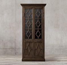 Georgian Fretwork Glass Double-Door Cabinet