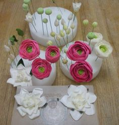sugar Flowers | The Petalsweet Blog: Sugar Flower Ranunculus and Gardenias
