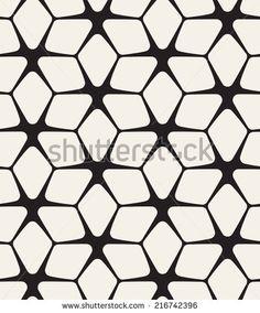 Vector seamless pattern. Modern stylish texture. Repeating geometric flowers