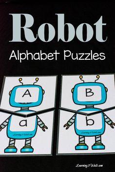 Robot Alphabet Puzzle
