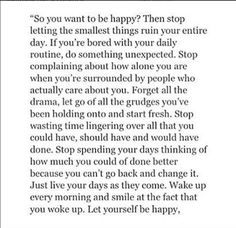 So you want to be happy?