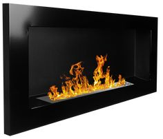 Bio Ethanol Fire BioFire Fireplace Modern 900 x 400 Black Gel Fireplace, Bioethanol Fireplace, Modern Fireplace, Tv Wall Brackets, Fireplace Accessories, Color Negra, Ebay, Design, Interiors
