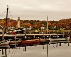 The Mystic Seaport waterfront during autumn... breathtaking!