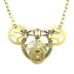 "Steampunk Antiqued Jewelry Necklace Pendant 2 2"" 3 2"" Gears Plane Watch SP134   eBay"
