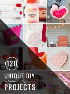 120 Handmade Valentine's Day Projects | http://hellonatural.co/diy-valentines-day-projects/
