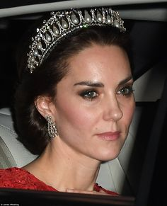 The Duchess of Cambridge looked stunning in the the Cambridge Lover's Knot tiara - so belo...