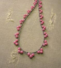 RESERVED for Seliena crochet necklace Bohemian by 3DivasStudio