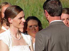Outdoor fall wedding ceremony. Elizabeth + Patrick's Fall Wedding   Lenora's Legacy Estate www.lenoraslegacy.com