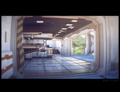 Hab05 Interior, Stefan Morrell on ArtStation at http://www.artstation.com/artwork/hab05-interior