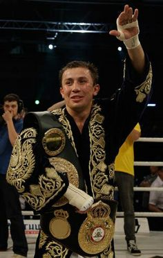 My favorite new boxer Gennady Golovkin I love his robe !