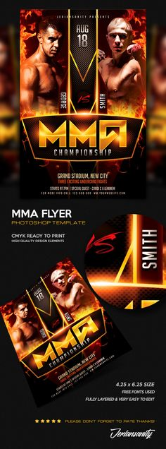 11 Best Boxing Mma Flyers Images Sports Flyer Free Flyer
