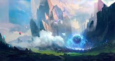 Discover the Art of Geoffrey Ernault, a French Senior Concept Artist and Game Developer. Environment Concept Art, Environment Design, Fantasy Places, Fantasy World, Fantasy Landscape, Landscape Art, Fantasy Kunst, Fantasy Art, Electronic Arts