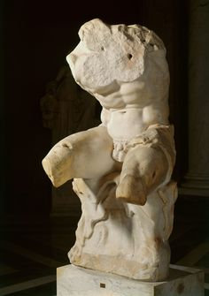 Belvedere Torso, 1st century BC   Vatican, Museo, Pio-Clementino. Discovered during the rebuilding of Rome in the cinquecento.