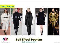 Belt Effect Peplum #Fashion Trend for Fall Winter 2014 #Fall2014 #Fall2014Trends #FashionTrends2014