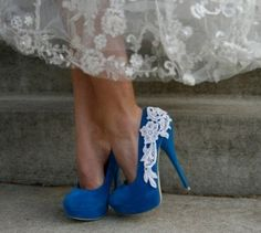 blue heels! @Kimberly Hodoway @Cassi Combs are these the right color???