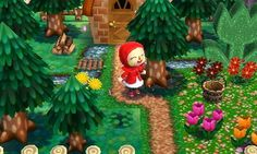 Adelaide home Little Red Riding Hood ♪ Oba~a Chanchi go after picking flowers in ~ ♪♪ 0704-7724-031 # Tsukutta  # Happy Home   # ACHappyHome  # 3DS