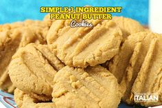 3 Ingredient Peanut Butter Cookies are soft, chewy and packed with peanut butter. Just like grandma used to make. Everyone has those recipes that you whip up without even thinking about it. You have just...