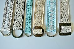 Lace belt tutorial. Boy, do we have a lot of LACE at the shop. Good thing there are lots of cute projects on here to use it for!