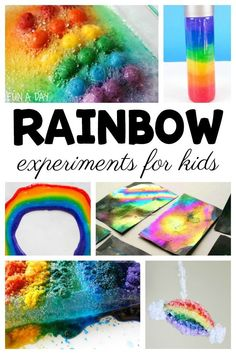 15 ideas for engaging rainbow experiment ideas kids are sure to love! I think these rainbow science activities would be perfect for a preschool rainbow theme, or during St. Patrick's Day celebrations. Learning Colors for Toddlers Rainbow Activities, Early Learning Activities, Science Activities For Kids, Rainbow Crafts, Preschool Science, Spring Activities, Toddler Activities, Preschool Activities, Kids Learning