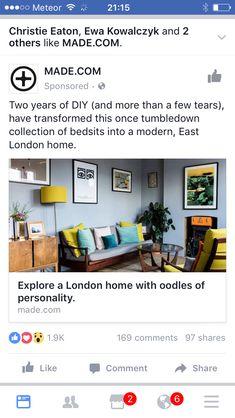 East London, Living Room, Modern, Diy, Home, Trendy Tree, Bricolage, Ad Home, Home Living Room