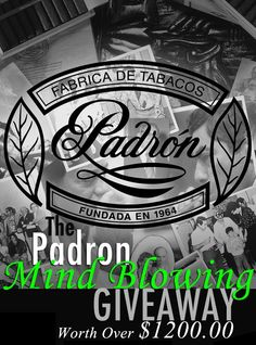 The Great Padron Cigar Giveaway!