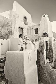 Santorini in B+W - Emporio Village