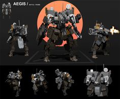 Another take base frame lots of fun experimenting with it thanks for looking AEGIS Robot Concept Art, Armor Concept, Gundam, Military Robot, Earth Book, Robots Characters, Sci Fi Armor, Lego Mecha, Futuristic Art
