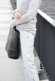 MyDubio | Outfit | grey leather trousers