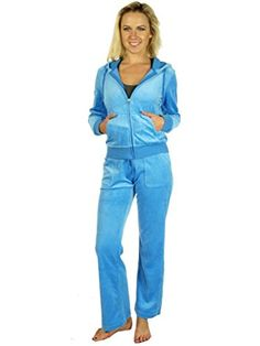 Women's Athletic Clothing Sets - Anna Fashion Women Velour Set Tracksuit -- Be sure to check out this awesome product.