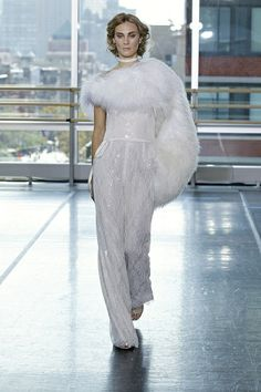 Bridal pantsuit from Rivini. We're loving that soonlyweds have more options than ever to fit their style personality!