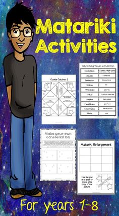 Matariki Activities! Celebrate Måori New Year! Print and go activities for New Zealand classrooms! Easy to use materials for teachers for years 1 - 8.