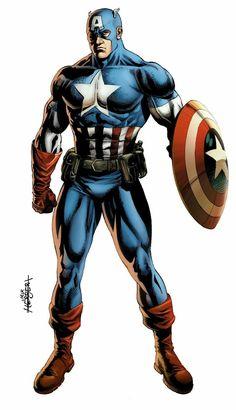 Captain America (Steve Rogers) by Jack Herbert Marvel Comics, Marvel Art, Marvel Heroes, Capitan America Marvel, Captain America Art, Comic Book Characters, Marvel Characters, Captain Amerika, Thor