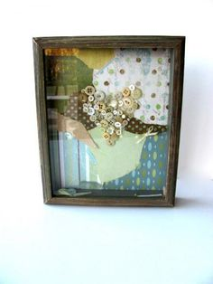 Button Heart Shadow Box by AllAboutTheButtons, $36.00 USD
