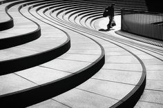 Silence, loneliness, and minimalism in Tokyo's urban spaces captured in black…