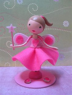 Anabel (sold)  Soft felt and rigid glitter felt combination.| Flickr - Photo Sharing!