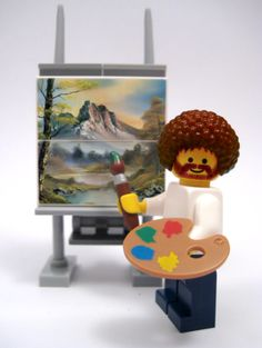 Bob Ross! I loved watching him when I was a kid. Mom hated it. She always said his paintings all looked the same. I say he was awesome!