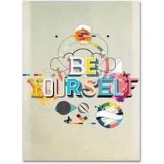 Trademark Fine Art Be Yourself Canvas Art by Kavan & Co, Size: 14 x 19, Multicolor