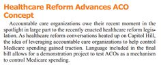 How health reform helped advance accountable care organizations