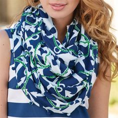 Covered Button Scarf Anchors