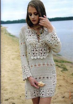 Ivelise Feito à Mão: Vestido Com Crochê E Tricô