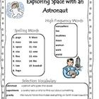 Exploring Space with an Astronaut Scott Foresman Unit 1, Week 2, Second Grade Word Lists, spelling activities, vocabulary activities, practice shee...