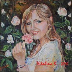 Vitalina K. Samosvat - Art: Γυναίκα και το βλέμμα της Painting, Fictional Characters, Painting Art, Paintings, Fantasy Characters
