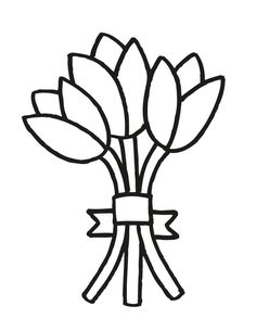 17 wedding coloring pages for kids who love to dream about their big day wedding bouquet 3