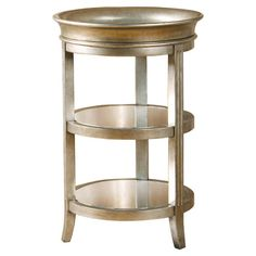 Showcasing 3 tiers and a tray-style top, this elegant end table is perfect for displaying a vase of lush blooms or catching keys in the entryway.