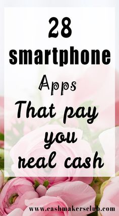 28 Awesome Smartphone Apps To Make Money 2018 - Make money online using the best smartphone apps that already paying millions of people for small tasks. #savemoney #makemoney #makemoneyapps #earnmoneywithapps #makemoneywithsmartphone #moneymakingapps #sidehustleideas #workathome #makemoneyonline