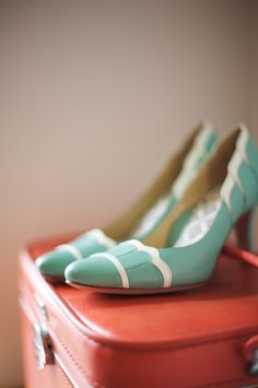 Mint wedding shoes #mint #shoes #wedding