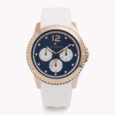 White Blue Watch